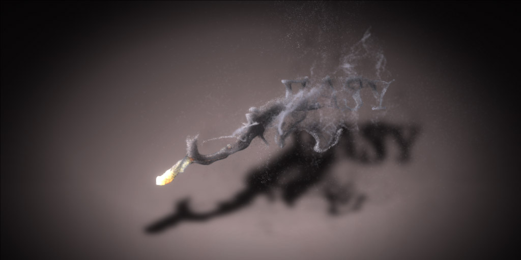 particles running under a fluid sim and attracted to an image